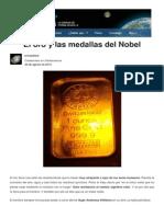 El Oro y Las Medallas Del Nobel