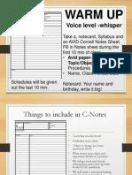 classroom website procedures