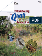 Habitat Monitoring for Quail on Texas Rangelands