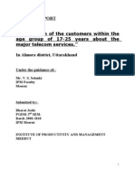 "PROJECT REPORT on "" Perception of the Customers Within The"