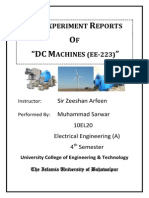DC Machine Experiments Manual