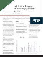 Intelligent Use of Relative Response GCFID