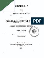 Memorias MOP 1878