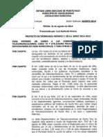 Proyecto Ordenanza Numero 3 Serie 2014-2015