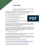 Apuntes de Curso HTML Codecademy