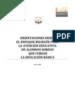 Orientaciones Desde El Enfoque Bilingue