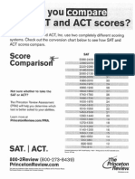 how do you compare sat act