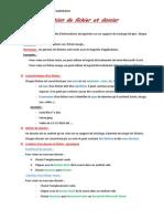 Notion de Fichier Et Dossier