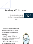 Resolving ABO Discrepancy