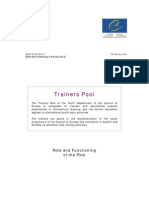 2012 Role and Functioning Trainers Pool