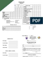 Report Card - Grade 3