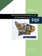 Perfil demografico Apurimac