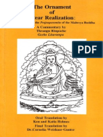 The Ornament of Clear Realization - A Commentary on the Prajnaparamita of the Maitreya Buddha