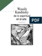 Wassily Kandinsky de Lo Espiritual en El Arte