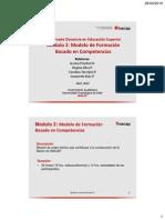 Fundamentos Del Modelo de Formación Basado en Competencias