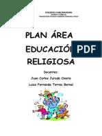 Plan Área Educación Religiosa.