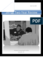 Davidson County (Tenn.) Sheriff's Office 287(g) - 2 Year Review (4/16/09)