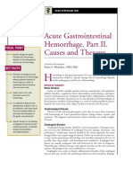 Acute Gastrointestinal Hemorrhage,PArt 2 Causes and Therapy