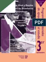 La Expresión Oral y Escrita en El Proceso de Enseñanza y de Aprendizaje - Programa