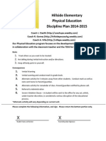 physical education discipline plan 2014