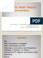 Deski to Webi Conversion Presentation