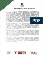 Informe de Seguimiento Gestion Riesgos Julio 2014 Sec