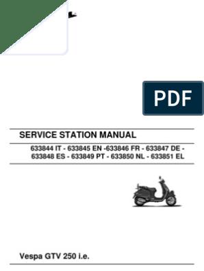 Vespa GTV250 Workshop Manual   Transmission (Mechanics)   ke on