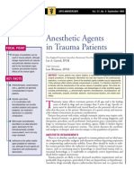 Anesthetic Agents in Trauma Patients
