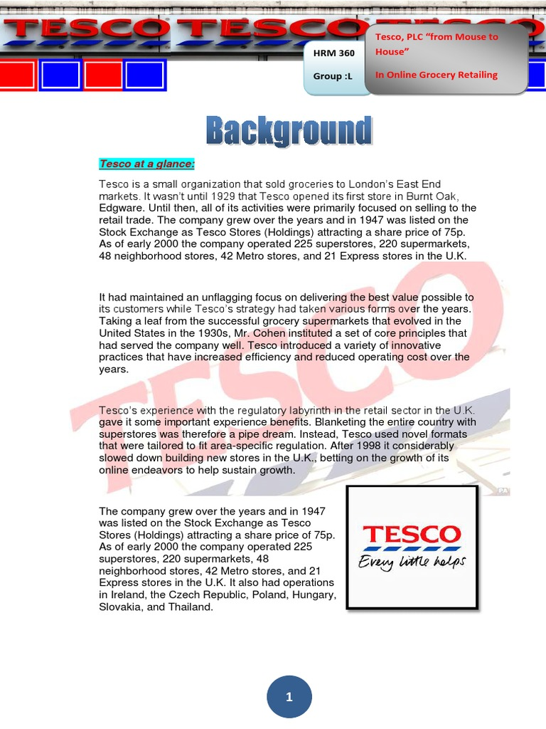introduction of tesco
