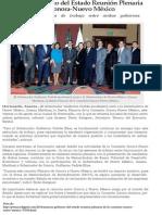 20-08-2014 Encabezará el Gobernador Guillermo Padrés la Sesión Plenaria de la Comisión Sonora - Nuevo México