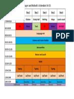 Schedule 14 15