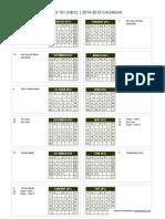 101 calendar