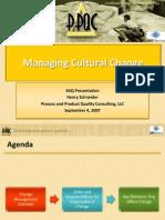 Managing Cultural Change