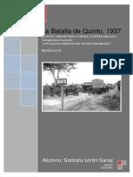 1937 Guerra Civil La Batalla de Quinto Gonzalo Loren Garay
