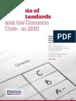 Fordham Institute's 2010 Comparison of State Standards to Common Core
