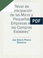 Informe Mype Joe _2011