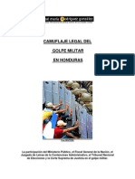 Camuflaje Legal Del Golpe Militar en Honduras