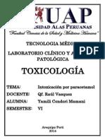 Intoxicacion Por Paracetamol (Acetaminofén)