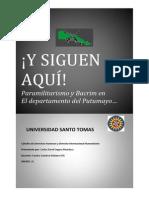 Paramilitarismo y Bacrim en El Putumayo