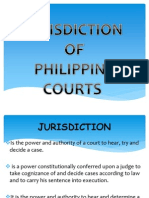 REPORT on Court Jurisdictions