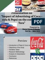 Impact of Ad of Coke & Pepsi