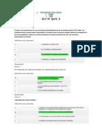 Quiz 2 Programacion Lineal