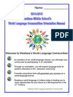 2014-15 world language department orientation manual