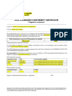 IFRA Certificate Template