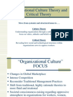 Organizational Culture Critical Theory