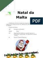 Natal a Malta 2009 - Programa