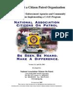How to Start Citizen Patrol Program