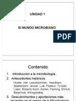 Unidad 1 El Mundo Microbiano