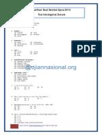 Tes Intelegensi Umum CPNS 2013