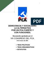 VIII Congreso del PCA - Documentos aprobados - Todos los documentos